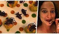 Çok Lezzetli! Böcekleri Beslenme Rutininin Bir Parçası Haline Getiren Kadın
