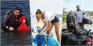 Helal Olsun Size! İnsanların Hiç Utanmadan Bıraktığı Çöpleri Elleriyle Toplayan Çevreci Ünlüler