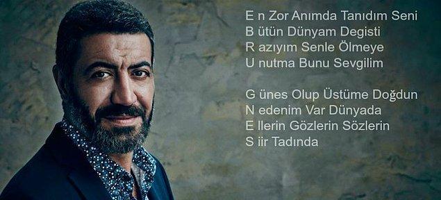 4. Ebru Gündeş ile ayrılan Hakan Altun'un, eski sevgilisi için akrostişli şarkı yazması