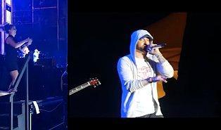 ABD'li Rapçi Eminem'in Konserinde Muhteşem İşler Yaparak Konserin Önüne Geçen İşaret Dili Çevirmeni