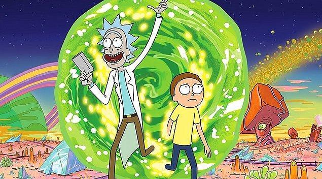 2. Yetişkinler için efsane bir animasyon dizisi: Rick and Morty. IMDb puanı: 9.3