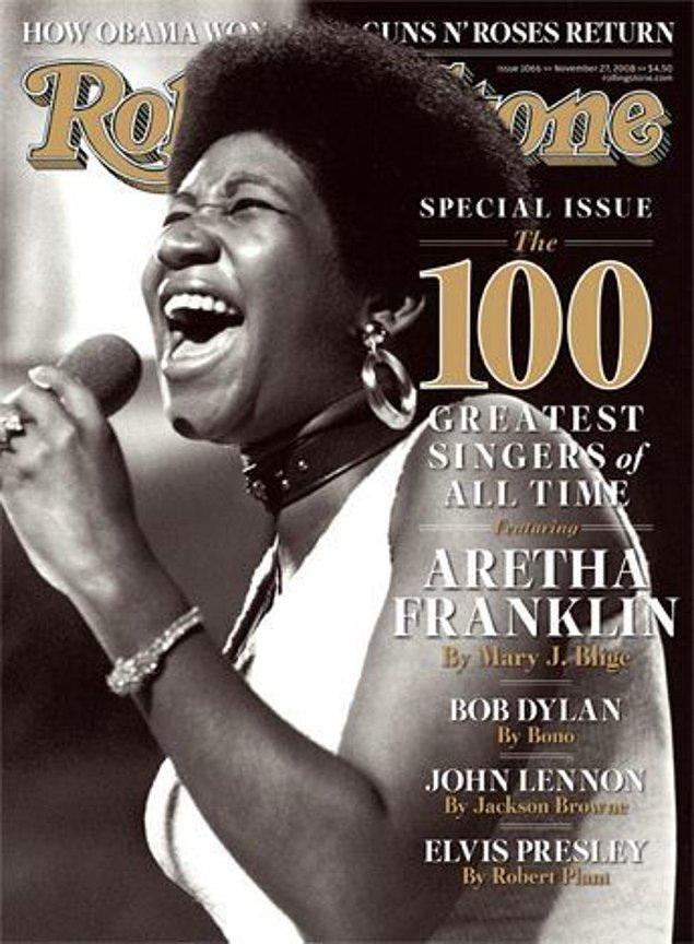 10. Tüm zamanların en iyi şarkıcısı seçildi.