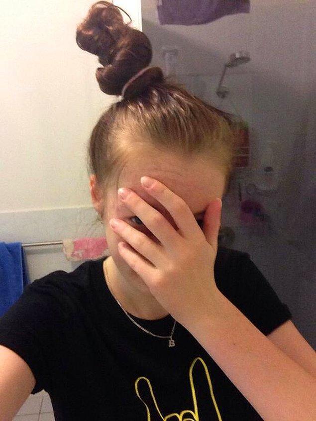17. Saçınızı dağınık topuz yapmak istediğinizde: