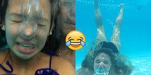 Su Altında Selfie Çekmenin Atomu Parçalamaktan Daha Zor Olduğunu Kanıtlayan Görüntüler