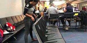 Uçağı Beklerken Sıkılan Kadından Havalimanında Muazzam Bir Limbo Gösterisi