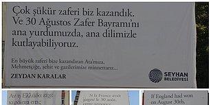 Ya Onlar Kazansaydı? Seyhan Belediyesi'nden Dört Dilde Dikkat Çeken 30 Ağustos Mesajı