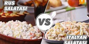 Her Zaman Karıştırılan Ama Çok Sevilen İki Lezzet: Rus Salatası vs İtalyan Salatası Nasıl Yapılır?