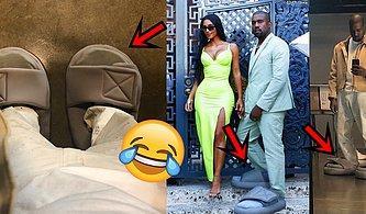 Ayağına Küçük Gelen Sandalet Giydi Diye Dalga Geçenleri Devasa Sandaletleriyle Trolleyen Kanye West