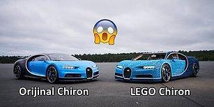 Yalnızca LEGO Bloklarıyla Üretilen ve Saatte 28 Kilometre Hıza Ulaşan Bugatti Chiron!
