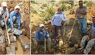 Kuruyup Giden Su Yollarını Yaban Hayvanları Yaşasın Diye Kazma Kürekle Onaran İşçi Emeklisi Abilerimiz