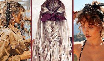 Basit Ama Güzel Saçlar Yapmak İsteyen Kadınlara Özel! Bandanayla Saçınızda Harikalar Yaratabileceğiniz 17 Örnek