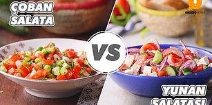 Sizin İçin Sofranın Tamamlayıcısı Hangisi? Çoban Salatası vs Yunan Salatası Nasıl Yapılır?