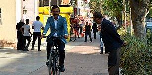 Örnek Olması Dileğiyle! Kırşehir Belediye Başkanı Yaşar Bahçeci Makam Aracı Yerine Bisiklet Kullanmaya Başladı