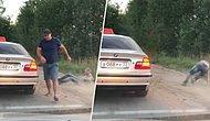 Dışarı Çöp Atarak Çevreyi Kirleten Müşterisini Yaka Paça Aracın Dışına Atan Taksici!