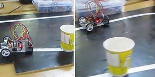Bir Engelle Karşılaşınca Duran, Yön Değiştiren Otonom Robot Yapan Genç Mucit