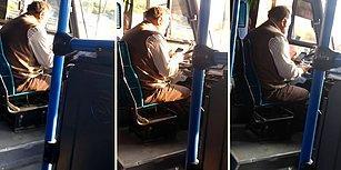 Telefondan Fırsat Buldukça Yola Bakarak Otobüsü Sürmeye Çalışan Şoför