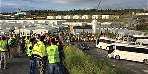 Jandarma Biber Gazıyla Müdahale Etti! Kötü Çalışma Koşulları Nedeniyle 3. Havalimanı İşçileri Eylem Başlattı