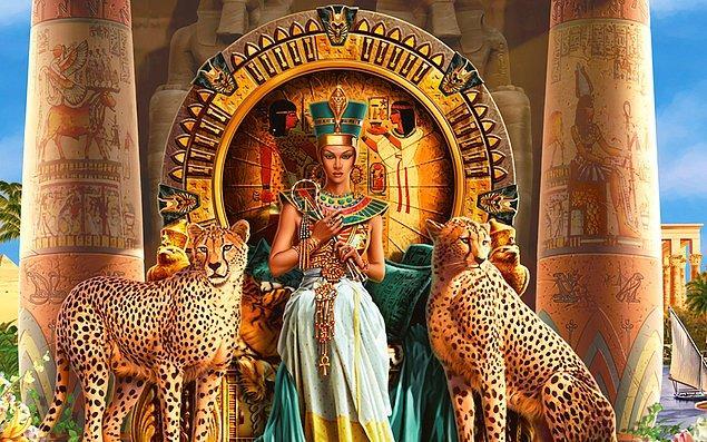 11. Kleopatra sadece bir hükümdar değil, anneydi de.