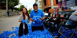 Size Helal Olsun! Plastik Kapak Toplayarak 129 Bedensel Engelliye Tekerlekli Sandalye Hediye Eden Dede ve Torun