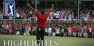 Golfün Efsane İsmi Tiger Woods 80. Şampiyonluğunu Kazanırken, Oyunu Takip Eden Binlerce Kişinin Muhteşem Görüntüleri