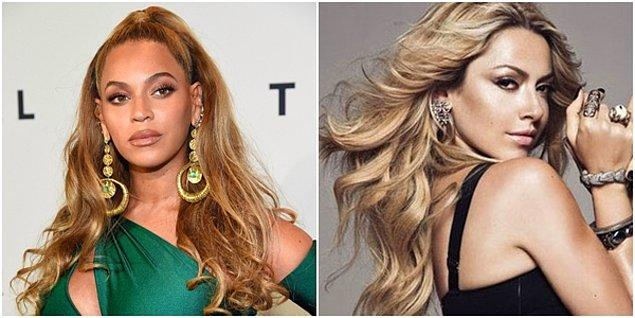 Beyonce de tam Hadise tipi var.