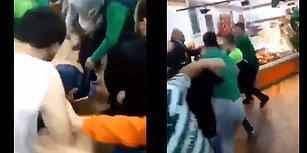 Düpedüz Eşkıyalık! Bursasporlu Bir Grup Taraftar, Beşiktaş Formalı Bir Kişiye Acımasızca Saldırdı