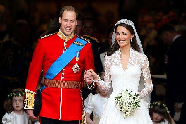 10. Prense William ve Kate Middleton'ın düğün maliyetleri ise 34 milyon dolar. Kraliyet düğünü olduğunu göz önüne alırsak çok da fazla değil.
