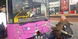 Engelli Vatandaşı Otobüse Almayan Özel Halk Otobüsü Şoförü