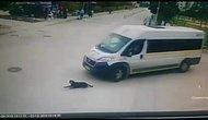 İnsanlık Adına Yine Utandık: Yolda Uyuyan Köpeği Ezen Servis Şoförü Arkasına Bile Bakmadı