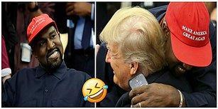 Beyaz Saray'da Donald Trump ile Görüşen Kanye West'in Canlı Yayında Çıkardığı Telefonu ve Girdiği Şifre Dalga Konusu Oldu!