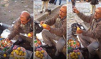 Limon Sıkacağı Satmak İçin Kullandığı Eşsiz Pazarlama Yöntemiyle Hipnotize Eden Dayı