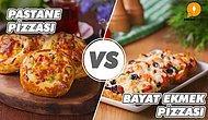 Pizza Düellosu Başlıyor: Çok Sevdiğiniz Pastane Pizzası, Leziz Bayat Ekmek Pizzası'na Karşı!