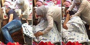 Pamuk Elleriyle Uyuyan Torununun Üzerini Örtmeye Çalışan Büyükannenin İçinizi Isıtacak Görüntüleri