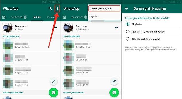 Daha önceleri sadece metin olarak cevaplanabilen Whatsapp durumlarını cevaplarken artık GIF, resim ve video ile de cevap verilebilecek.