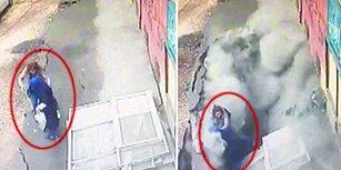 Diyarbakır'da Akılalmaz Olay: Kaldırım Çöktü, Doktor ve Hemşire İçine Düştü!