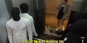 Asansöre Binen İnsanlara Cansız Manken Şakası Yapan Şakacılar