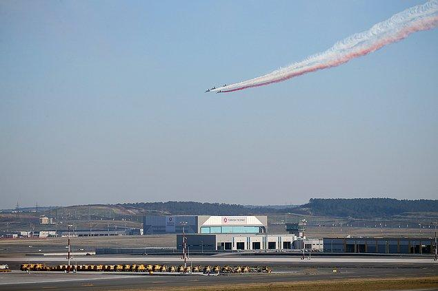 İstanbul hava sahası, Türk Yıldızları'nın gösterisi esnasında 40 dakika kısıtlandı