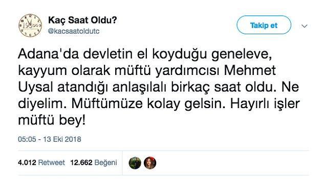 """5. """"Müftü yardımcısı Mehmet Uysal'ın, Adana'daki geneleve kayyım olarak atandığı iddiası."""""""