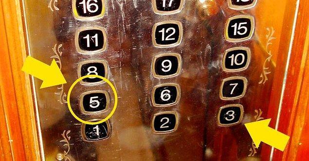 8. Birçok asansörde '4' rakamından kaçınılıyor...