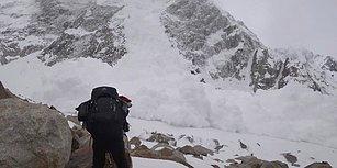 Dağın Yamacından Hızla Üzerlerine Gelen Çığın Altında Kalan Film Yapımcıları