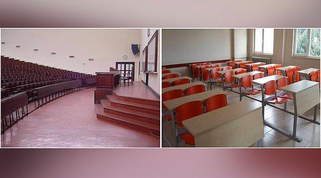 1. Üniversitede sınıfı olarak hayal edilen-İlk dersin gerçekleştiği sınıf