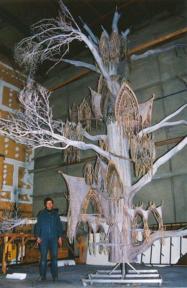 1. 'Yüzüklerin Efendisi' serisini sevenler için elf evlerinin dekorasyonu 👇