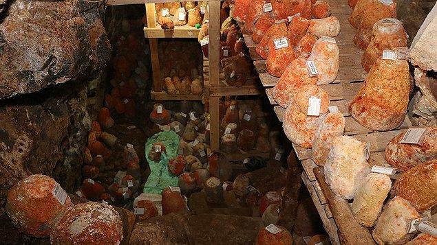 Karaman'ın, eski adı Divle olan köyündeki 250 metrelik mağarada dünyanın en özel peynirlerinden birisi üretiliyor