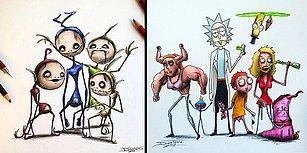 Çocukluk Kahramanlarımıza Karanlık Bir Dünya Yaratan Sanatçının İçinizi Ürpertecek 25 Çizimi