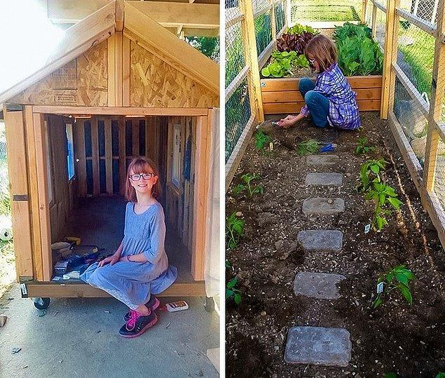 9. 9 yaşındaki Hailey Ford, evsiz insanlar için barınaklar yapıyor. Yeni projesi ise ihtiyacı olan insanların almaları için sebzeler yetiştirmek.
