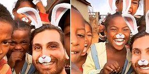 Instagram'ın Tavşan Filtresiyle Mutluluktan Havalara Uçan Çocuklar