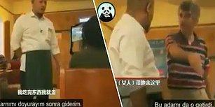 Çin'de Garsonun Restorandan Kovmaya Çalıştığı Kötü Görünümlü Kişiyi Masasına Davet Eden Türk