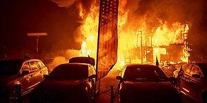Yangın Bölgesinin İçinden Aracıyla Geçen Adamın Kaydettiği İnanılmaz Görüntüler