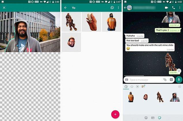 Geçtiğimiz günlerde yayınlanan bir Android uygulama ile birlikte WhatsApp'ta kendi sticker'larınızı oluşturabiliyorsunuz.