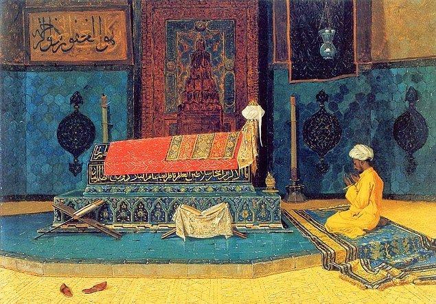 """1995 yılında Osman Hamdi Bey'in """"Yeşil Türbe"""" tablosu İngiltere'de 37 milyar liraya satıldı."""